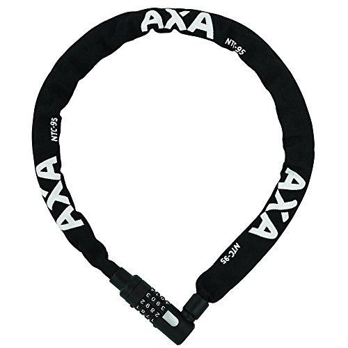 AXA 1X Kettenschloss Newton code, Schwarz, 95cm5,5mm