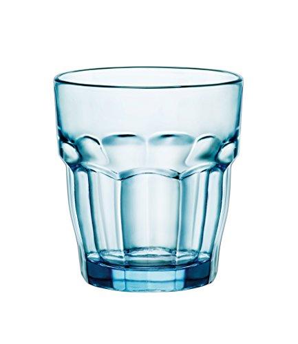 Bormioli Rocco Rock Bar Lounge Ice vidrio del whisky 270ml, azul, endurecido, 6 vidrio