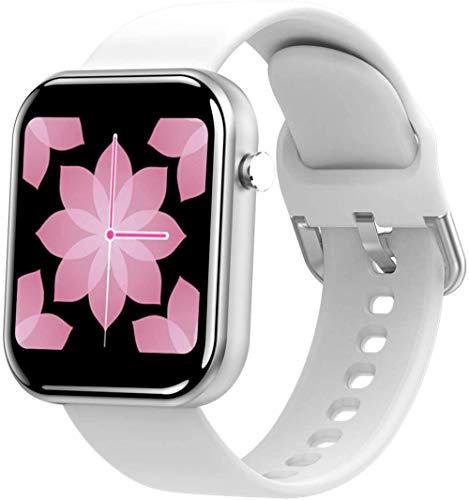 Reloj inteligente 1 54 pantalla grande HD IP67 impermeable podómetro movimiento sueño inteligente recordatorio Android y iOS blanco