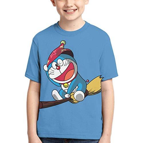 HJYR Roboter Katze Doraemon 3D-Druck Mode T-Shirts Teen Kid Kurzarm Sporthemd für Jungen Mädchen