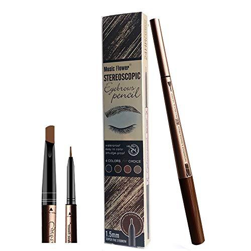 New Era Eyebrow Tattoo Pen für Augen Make-up Bleistift mit - 24 Stunden wasserdicht langlebigen Fleck (Hellbraun)