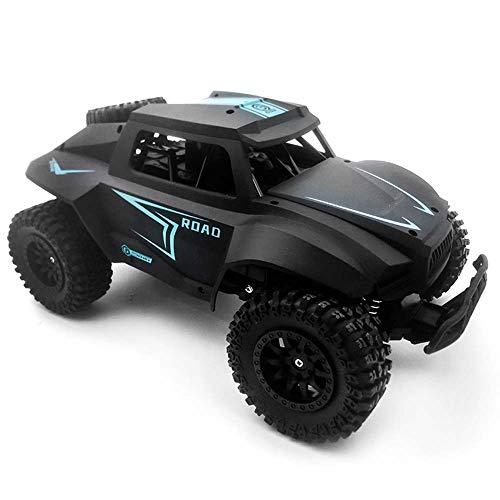 Lecez Coche de Control Remoto eléctrico, niño de Alta Velocidad a la Deriva Bigfoot Off-Road Toy Racing Modelo Simulación Escala 1/12 Amortiguador Resorte, Negro, Rojo, 30x20x15cm (Color : Negro)