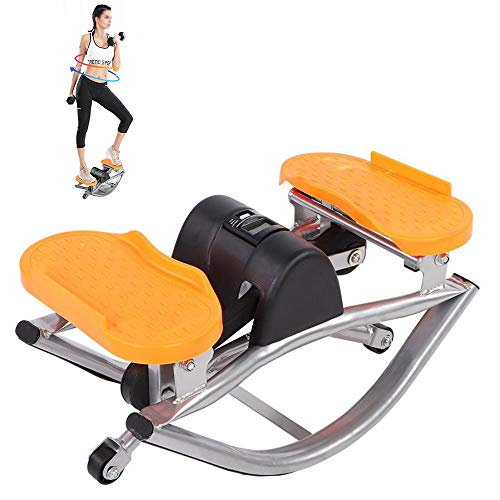 Multifunctional Stepper Mini Climbing Machine, Portable Mute Stepper, Home Stepper, Indoor Swing Exercise,...