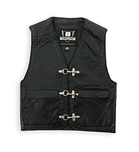Bores Sunride 5 Leder Lederweste mit Seitlicher Weitenverstellung, Schwarz, Größe S