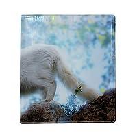 ブックカバー a5 白猫 きれい 文庫 PUレザー ファイル オフィス用品 読書 文庫判 資料 日記 収納入れ 高級感 耐久性 雑貨 プレゼント 機能性 耐久性 軽量16x22cm