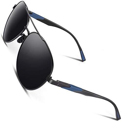 CGID Gafas de Sol Polarizadas para Hombre Mujer Piloto Gafas Oscuras Lentes para Conducir con 100% Protección UV400 Marco de Metal M181