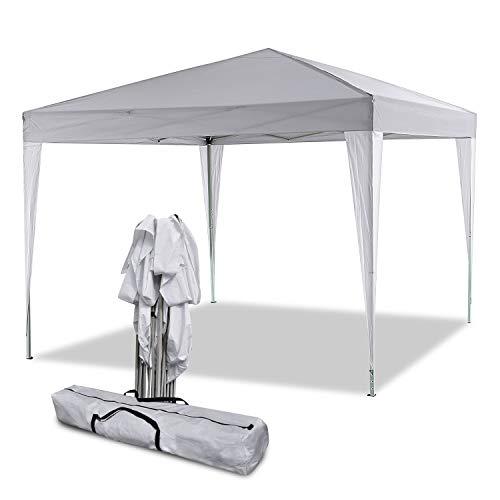Bunao Carpa con Paredes 3x3 m | Plegable, Impermeable, con Protección Solar, Ideal para Fiestas en el Jardín | Gazebo, Cenador, Pabellón, Tienda Fiestas | Persona 6-8 (Typ13)