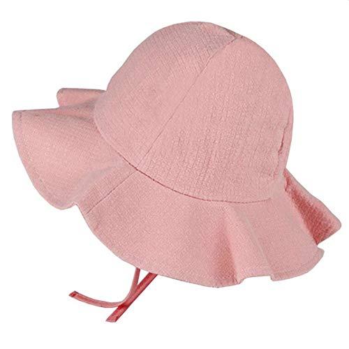 Sombrero de bebé de verano al aire libre cubo sombrero de los niños floral Cap Sun Beach Caps encantador encaje princesa ala bebé niña sombrero suave y transpirable sombrero