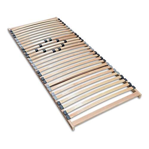 Coemo Stabiler 7-Zonen Lattenrost Basic starr 90 x 200 cm 28 Leisten -Nicht verstellbar- Duo-Kappen