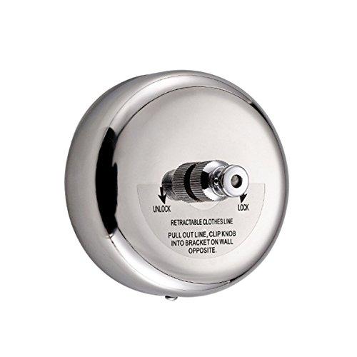 Filo stendibiancheria retrattile in acciaio inox, regolabile, per doccia, bagno e lavanderia