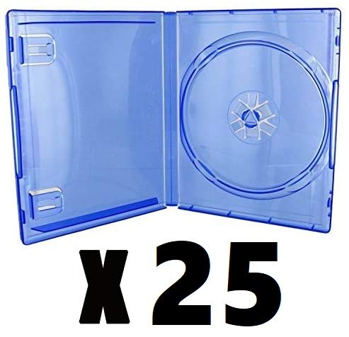 Pack 25 cajas individuales PS4 azul transparente