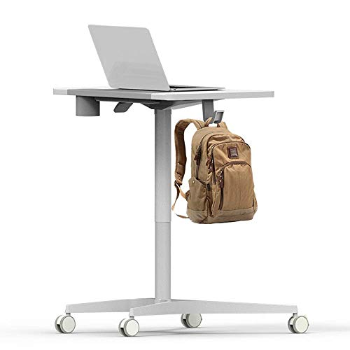 FZC-YM Lecterns Podiums Rolling Laptop Cart Mobile Laptop Desk With Wheels Standing Office Conference Table Lecture Table Bedside Table For Office for Churches School Hotel
