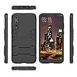QiongniAN Funda para Huawei P20 Pro,2 en 1 (con Soporte) Funda para Huawei P20 Pro CLT-AL00 CLT-AL01 CLT-L01J CLT-L04C CLT-L09 CLT-L09C CLT-L29 CLT-L29C Funda Carcasa Case Black
