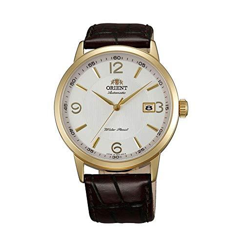 Orient Symphony Herren-Armbanduhr 41mm Armband Leder Automatik FER27004W0