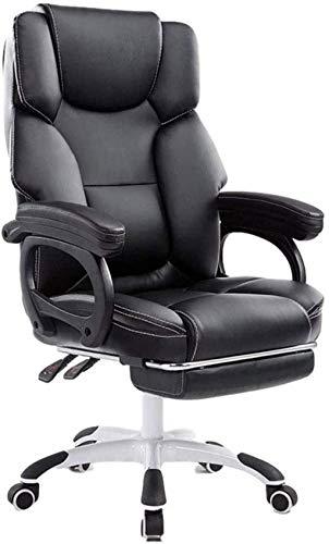 Silla ergonómica de oficina de piel sintética de poliuretano, silla ejecutiva de escritorio de computadora, sillas ejecutivas de gestión