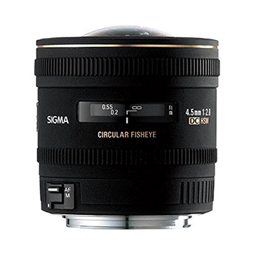 Sigma 4,5mm F2,8 EX DC HSM circulaire Fisheye lens (gelatinefilter), voor Sony