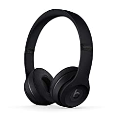 High-performance wireless Bluetooth headphones in black Features the Apple W1 chip and Class 1 wireless Bluetooth connectivity With up to 40 hours of battery life, Beats Solo3 wireless is your perfect everyday headphone Compatible with iOS and Androi...