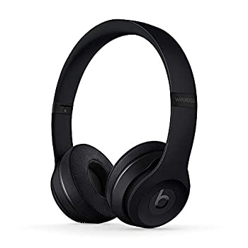 Beats Solo3 Wireless On-Ear Headphones - Apple W1 Headphone Chip Class 1 Bluetooth 40 Hours of Listening Time Built-in Microphone - Black  Latest Model