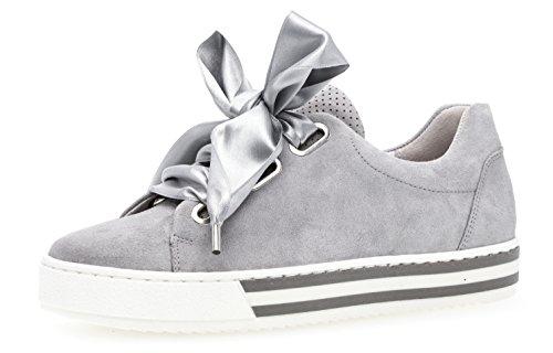 Gabor Gabor Damenschuhe 86.505.40 Damen Schnürhalbschuhe, Sneaker, Sommerschuhe, mehr Raum Dank Comfort-Mehrweite, Optifit- Wechselfußbett Grau (lt Grey (S.w/gr)), UK 4.5