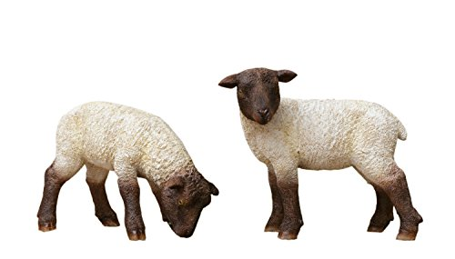 Your Heart s Delight Grazing Sheep Couple Décorative Accent (Set of 2)  6 x 2 x 4