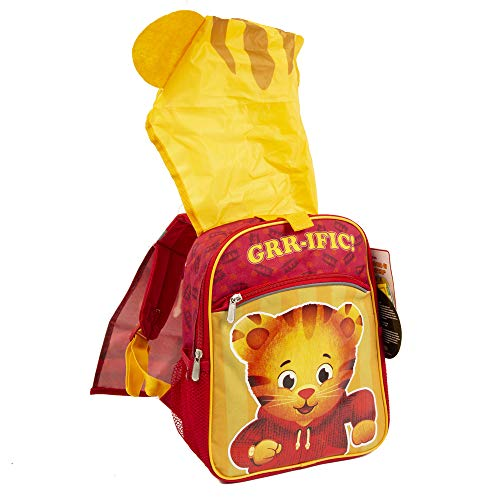 Daniel Tiger Neighborhood Backpack for Kids & Toddlers with Wearable Hood - 14 inch