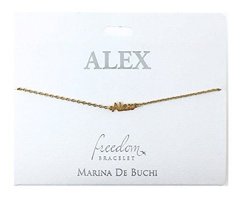 SYMBOLOGY Personalised Name Chain Bracelets Gold Plated - Alex