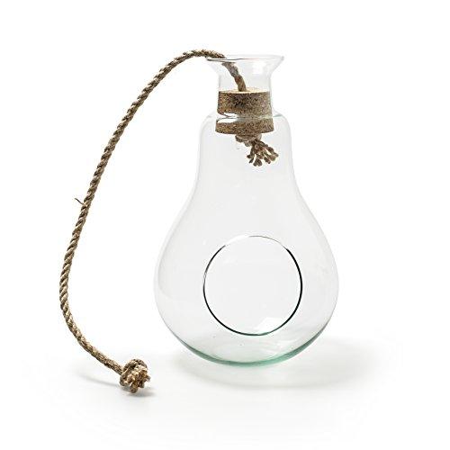 Verre Wind Licht hänge Lanterne en verre à lumière Eco Deco