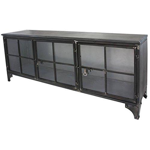 Credenza Credenza Madia Buffet Mobile tele TV mobile industriale ferro metallo vetro
