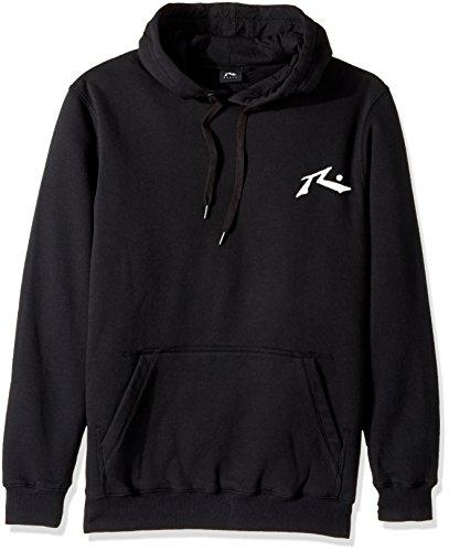 Rusty Men's Original Logo Fleece Hoodie Traditional Fit Sweatshirt, Competition Black, Small