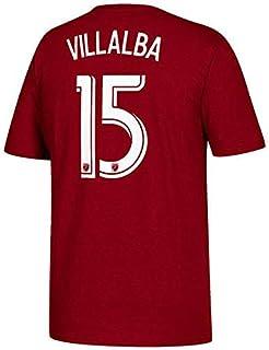 adidas Hector Villalba Atlanta United #15 Men's Name and Number T-Shirt Red
