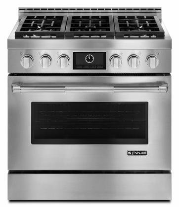Jenn-Air JGRP436WP 36' Pro-Style Gas Range with Dual-Fan Multimode...
