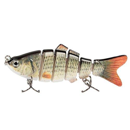 Kongnijiwa Señuelo de la Pesca Multi articulado de Vida como Swimbaits Crankbaits con 6# Gancho de Pesca 6 Segmento  9.5cm 18g