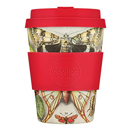 Ecoffee Cup farfalle Bambus-Kaffeebecher 350 ml mehrfarbig