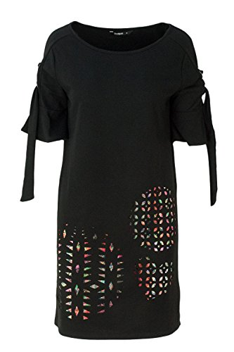 Desigual Damen Vest_ALMA Kleid, Schwarz (Negro 2000), Small