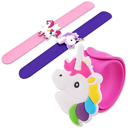 Gshy Slap Bracelet Unicorn Ring Unicorn Gifts for Children Girls Birthday Unicorn Gift Toys Party Kit 6pcs