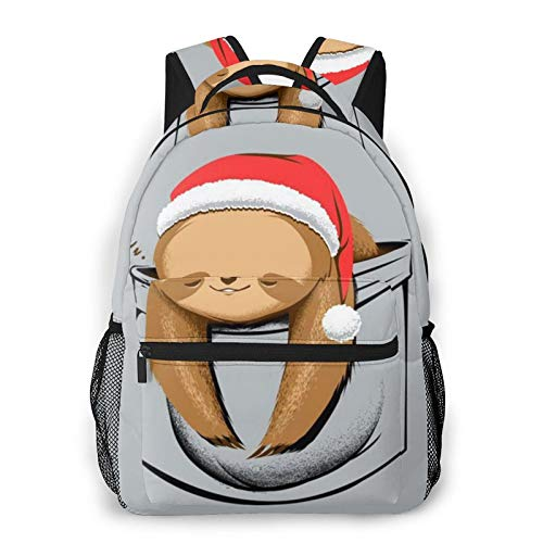 Cartoon Sloth Print Backpack Printing Laptop Waterproof Anti-Theft Casual Backpack Bag Usb Charging Port Backpack Unisex