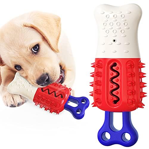 Huakaimaoyi Juguete de masticación interactivo para perros de enfriamiento para perros pequeños, medianos y grandes (blanco rojo)