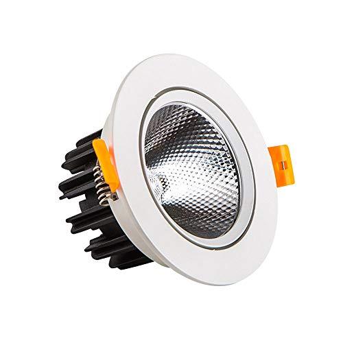 Qyyru Downlight LED 12W, Luce Calda/Luce Neutra/Luce Neutro/Luce Bianca Lampada da Incasso a Incasso in Lega di Alluminio Rotondo in Lega di Alluminio in Lega di Alluminio Embedded frigorifere