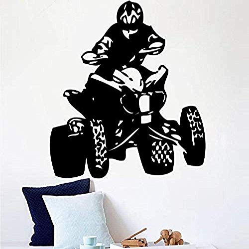 Muursticker,Vinyl muur sticker Sticker slaapkamer Quad Bikes auto's Sport kampioenschap Man muurschildering voor woonkamer Home Decor 89x114cm