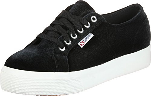 SUPERGA 2730-Velvetchenillew, Sneaker Donna, Nero (Black 999), 36 EU
