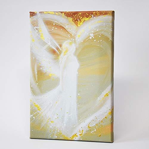 Henriettes-ART Engel Leinwanddruck, Bilder auf Leinwand: Weg ins Herz Frauen, Beste Freundin,Taufgeschenke für Mädchen, Geschenke zur Geburt, Engelbilder (20 x 30 cm)