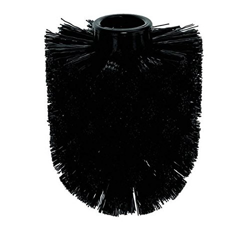 kela WC-Bürstenkopf Jay aus Kunststoff in schwarz, Plastik, 7.5 x 7.5 x 9 cm