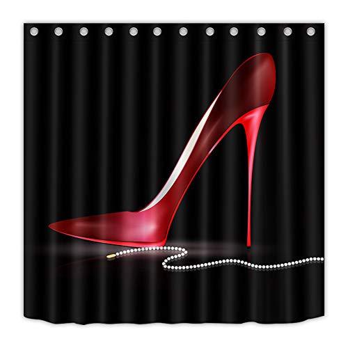 ZZZdz rode voetbalschoenen. Douchegordijn. 180 x 180 cm. 12 vrije haken. Huisdecoratie. 3D Hd-druk. Eenvoudig te reinigen. Badkameraccessoires.