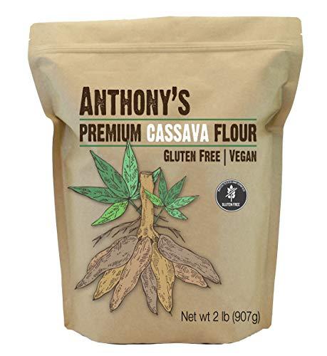Anthony's Cassava Flour, 2lbs, Batch Tested Gluten Free, Non GMO, Vegan