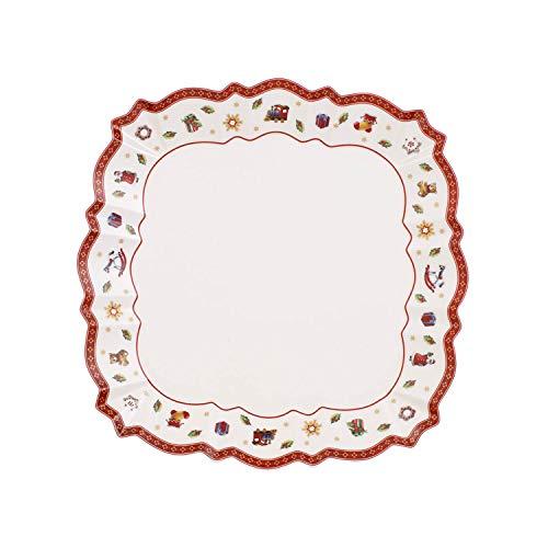 Villeroy & Boch Toy's Delight Piatti da Portata, Quadrato, Porcellana, Bianco/Multicolore, 26x26x0.1 cm
