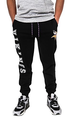 Ultra Game NFL Minnesota Vikings Mens Jogger Pants Active Basic Fleece Sweatpants, Team Color, X-Large