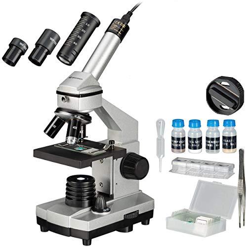 Bresser Junior Mikroskop Set Biolux DE 40x-1024x für Kinder und Erwachsene mit hoher Vergrößerung, inklusive USB Kamera und umfangreichem Zubehör für den idealen Start in den Mikrokosmos