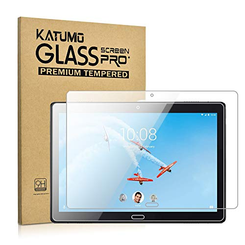 [2 Pack] KATUMO Screen Protector for Lenovo Tab P10 10.1 TB-X705F Tempered Glass Tab P10 Premium Film [Transparent]