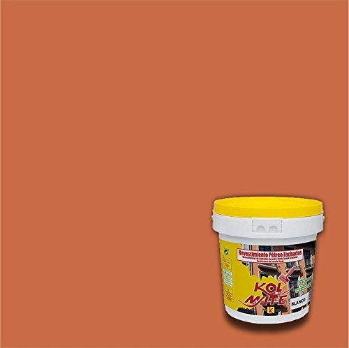 Revestimiento Pétreo de Fachadas KOLMATE. Pintura especial para fachadas (5 kg, teja)
