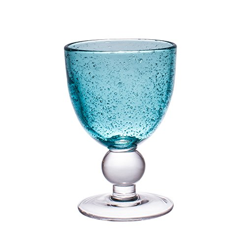 Table Passion - Verre à pied 28cl artisan bulle lagon (lot de 2)
